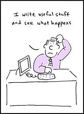 Write Useful Stuff cartoon