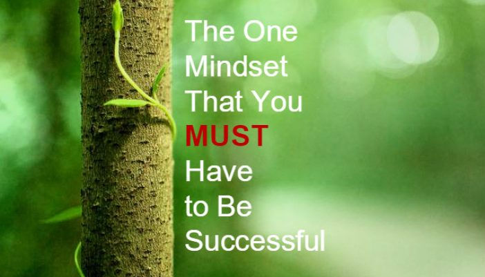 The One Mindset That You MUST Have to Be Successful