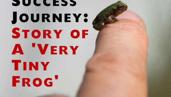 The Success Journey: Story of A 'Very Tiny Frog'