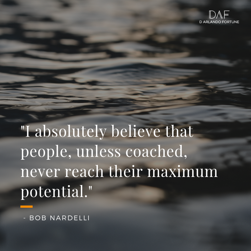 people, unless coached, never reach their maximum potential